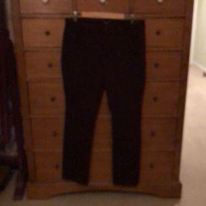 NYDJ burgundy stretch jeans